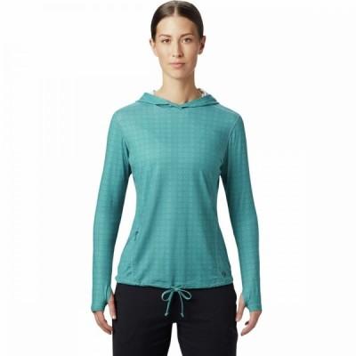 マウンテンハードウェア Mountain Hardwear レディース パーカー トップス crater lake long-sleeve hoodie Washed Turq