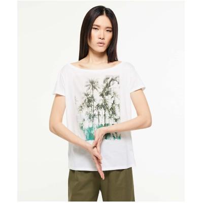 SISLEY オーバーフィットプリント半袖Tシャツ・カットソー(ホワイト系その他)【返品不可商品】