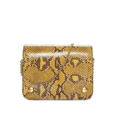 レディース バッグ  Mulberry Yellow Python Leather Clifton Crossbody