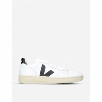 ヴェジャ VEJA メンズ スニーカー シューズ・靴 V10 leather and mesh trainers White/blk