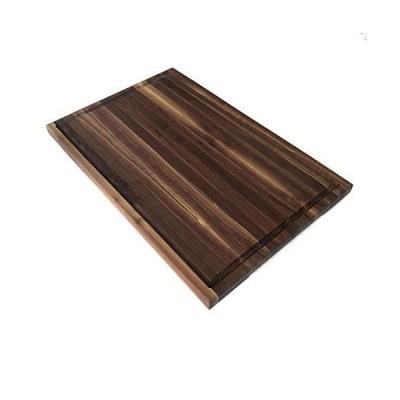 【全国送料無料】Large Black Walnut Cutting Board with Juice Groove and Built in Handles