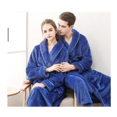 バスローブ パジャマ 秋冬 メンズ レディース ベルト付き ルームウェア 厚手 もこもこ 防寒 暖かい 寝間着 部屋着 ナイトウェア フランネル  お風呂上がり 温泉