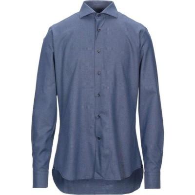 アレア ALEA メンズ シャツ トップス patterned shirt Blue