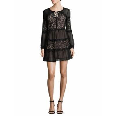 ウィロー&クレイ レディース ワンピース Paneled Sheer Lace Mini Dress