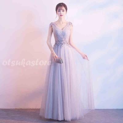 ロングドレス パーティードレス レディース ワンピース 結婚式 ドレス フォーマル 編み上げ ロングドレス ピアノ発表会 演奏会 披露宴ドレス