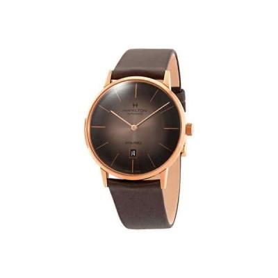 腕時計 ハミルトン メンズ Hamilton American Classic Intra-Matic Automatic Brown Dial Men's Watch H38745501
