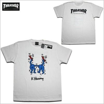 THRASHER Tシャツ WHT ホワイト Keith Haring S/S T-SHIRTS 1 THKH-ST18 スラッシャー