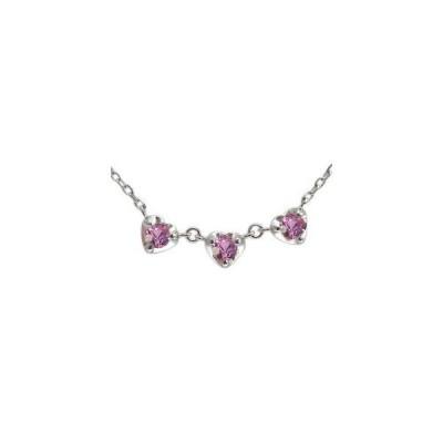 ピンクサファイア ブレスレット ハート ブレス トリロジー
