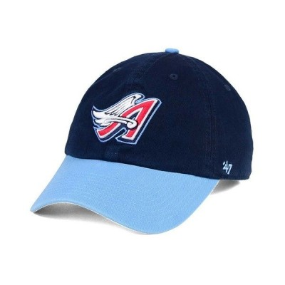 47ブランド 帽子 アクセサリー メンズ Los Angeles Angels of Anaheim Cooperstown CLEAN UP Cap Navy/Columbia Blue