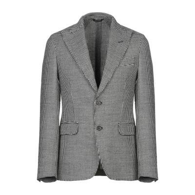 GAZZARRINI テーラードジャケット ブラック 50 バージンウール 90% / ナイロン 8% / ポリウレタン 2% テーラードジャケット