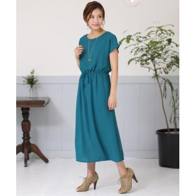 Wシャーリングロングワンピース (ワンピース)Dress