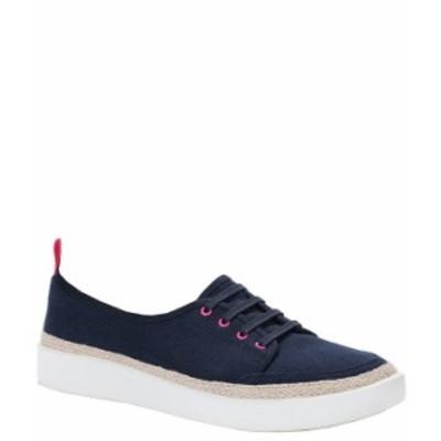 バイオニック レディース オックスフォード シューズ Jovie Canvas Lace-Up Sneakers Navy