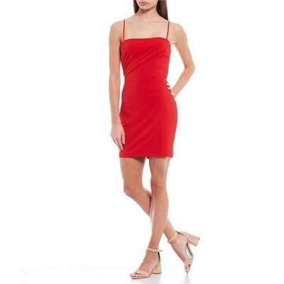 ビーダーリン レディース ワンピース トップス Spaghetti Strap Square-Neck Tie-Back Bodycon Dress