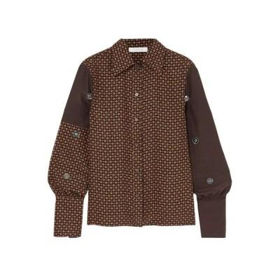 クロエ CHLOE レディース ブラウス・シャツ トップス embellished printed silk crepe de chine blouse Black
