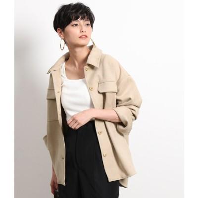 【ロペ マドモアゼル/ROPE mademoiselle】 【2WAY】マイクロスエードシャツジャケット
