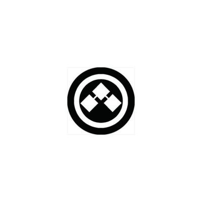 家紋シール 丸に千切り紋 直径10cm 丸型 白紋 2枚セット KS10M-0668W