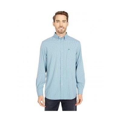 Southern Tide メンズ 男性用 ファッション ボタンシャツ brrr Intercoastal Mini Check Performance Sport Shirt - Turf