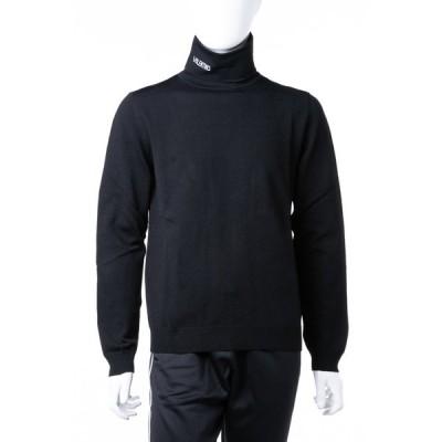 ヴァレンティノ セーター ニット 長袖 タートルネック メンズ QV3KC27D550 ブラック Valentino