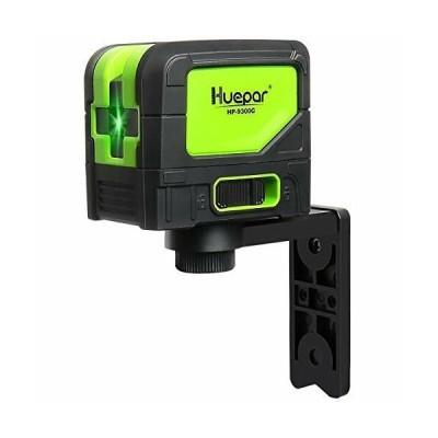 Huepar グリーン レーザー墨出し器 3ポイント 緑色 自動補正調整機能 高輝度 水平ポイント 鉛直ポイント 地墨照