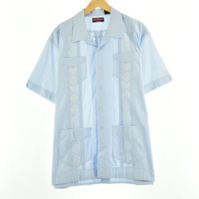 VIVA TROPICAL オープンカラー メキシカンシャツ キューバシャツ メンズXL 【中古】 【200627】 /eaa051096