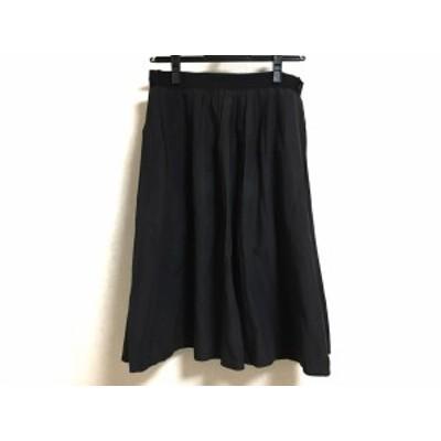 マーガレットハウエル MargaretHowell スカート サイズ2 M レディース 美品 - 黒 ひざ丈【還元祭対象】【中古】20200813