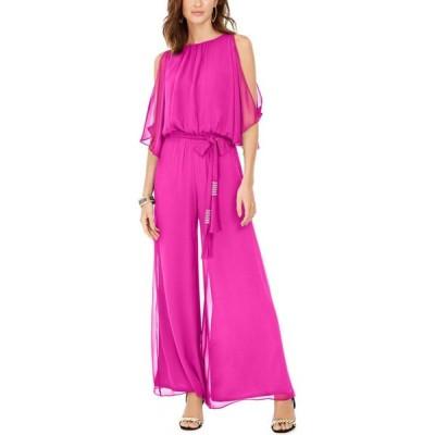 MSK レディース オールインワン ジャンプスーツ ワンピース・ドレス Blouson Jumpsuit Bright Pink