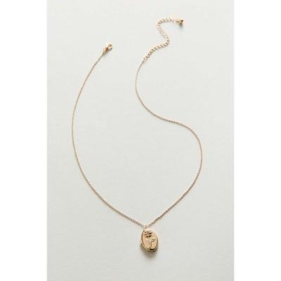 アーバンアウトフィッターズ Urban Outfitters レディース ネックレス ジュエリー・アクセサリー Delicate Floral Locket Necklace Gold