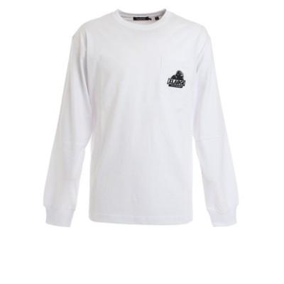 エクストララージ(XLARGE)長袖ポケットTシャツ EMBROIDERY 101203011018 WHT