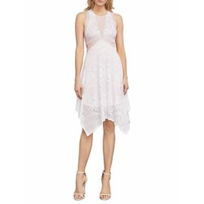 BCBG マックスアズリア レディース ワンピース Meilani Asymmetrical Floral Lace Dress