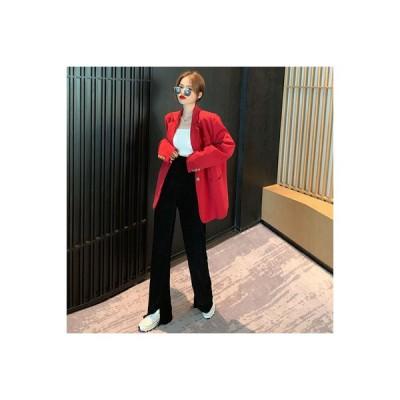 【送料無料】左 小 到来 ~ 韓国風 単一色 レトロ 気質 スーツジャケット ゴールドのベル | 364331_A63897-5181695