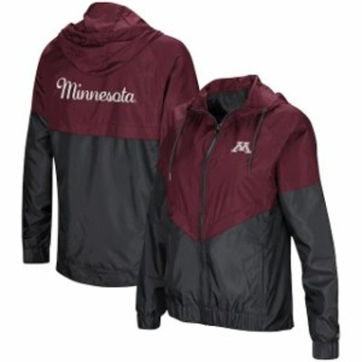 Colosseum コロセウム スポーツ用品  Colosseum Minnesota Golden Gophers Womens Maroon First Class Full-Zip Windbreaker Jacket