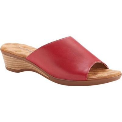 ウォーキング クレイドル サンダル シューズ レディース Kerry Slide Sandal (Women's) Red Leather