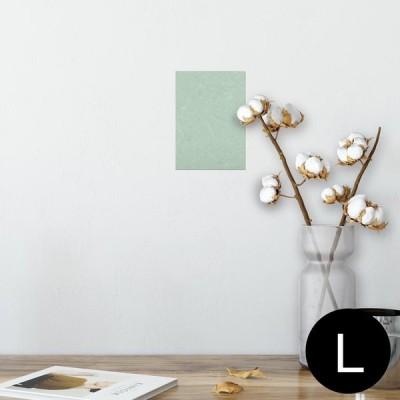 ポスター ウォールステッカー シール式 89×127mm L版 写真 壁 インテリア おしゃれ wall sticker poster シンプル 模様 緑 001807