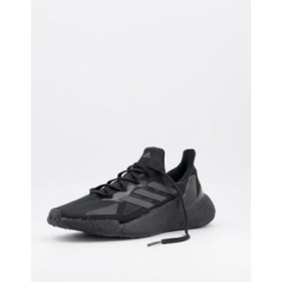 アディダス メンズ スニーカー シューズ adidas Running X9000 sneakers in black Black