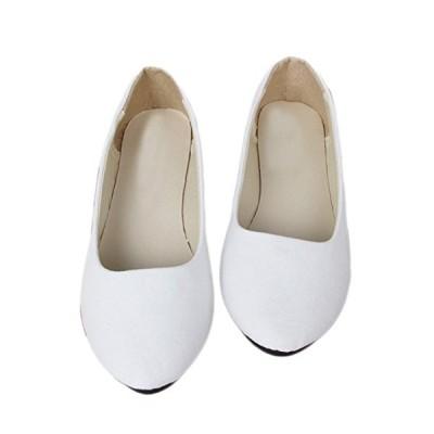[ワン アンブ] ぺたんこ パンプス スエード カジュアル ぺたんこ靴 歩きやすい フラットシューズ レディース