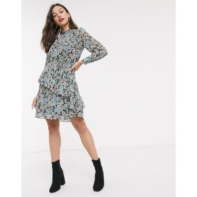 ジェイディーワイ レディース ワンピース トップス JDY mini dress with frill detail in floral print