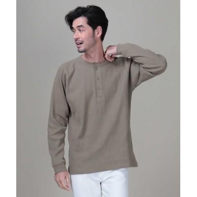 Right-on / 【BACK NUMBER】抗菌防臭ワッフルヘンリーネックロンT MEN トップス > Tシャツ/カットソー