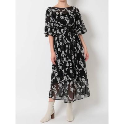 【公式】MERCURYDUO(マーキュリーデュオ)ペイズリー刺繍ロングドレス