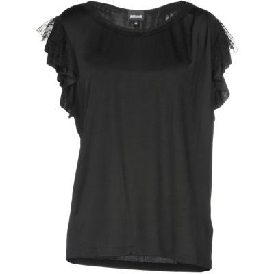ジャストカヴァリ JUST CAVALLI T シャツ ブラック 36 レーヨン 96% / ポリウレタン 4% T シャツ