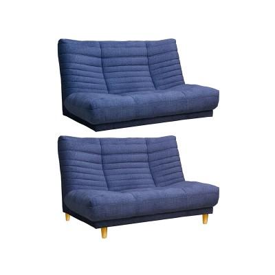 EO043_【開梱設置 完成品】2Pソファ ロベール ネイビー ファブリック 2人掛け 家具