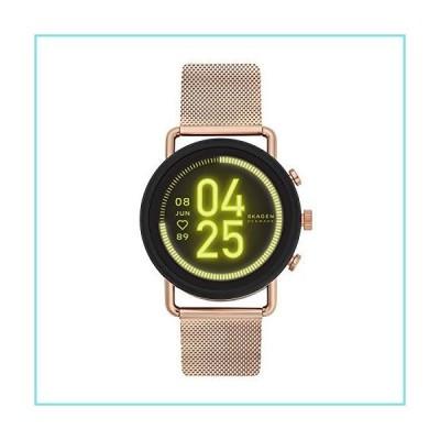 Skagen Connected Falster 3 Gen 5 Stainless Steel and Mesh Touchscreen Smartwatch, Color: Rose Gold (Model: SKT5204)【並行輸入品】
