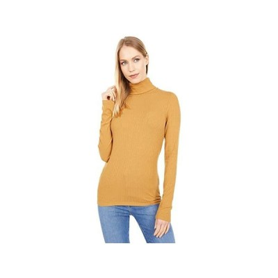 Madewell Ribbed Turtleneck Top レディース シャツ トップス Toffee