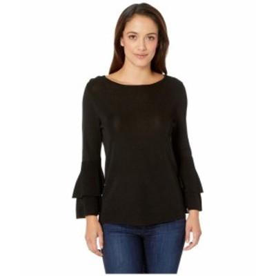 Anne Klein アンクライン 服 スウェット Double Flare Sleeve Sweater