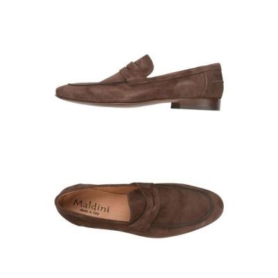 マルディーニ MALDINI メンズ ローファー シューズ・靴 745 Dark brown