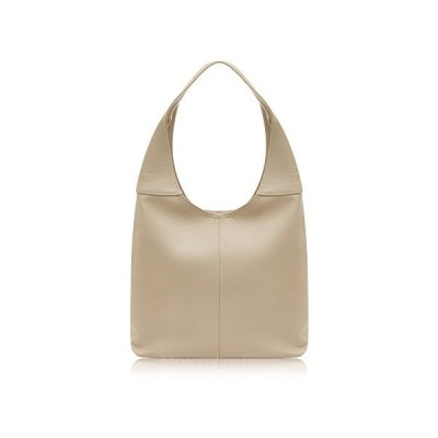 Montte Di Jinne - | 100% Soft Italian Leather | Slouch Shoulder Bag|Gift for Women| (Light Taupe) 並行輸入品