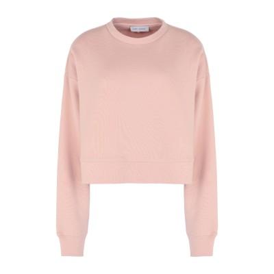 NINETY PERCENT スウェットシャツ ライトピンク XS オーガニックコットン 100% スウェットシャツ