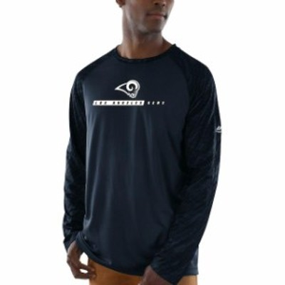 Majestic マジェスティック スポーツ用品  Majestic Los Angeles Rams Navy League Rival Synthetic Long Sleeve T-Shirt