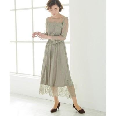 ドレス 【一部店舗限定】【Mon E'toile】【結婚式にも】レースDRESS