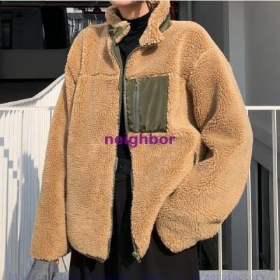 ボアブルゾン レディース ジャケット 秋冬 アウターコート もこもこ 防寒コート 冬 ゆったり アウトドア 暖かい フリース 胸ポケット あったか