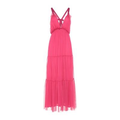 TENAX ロングワンピース&ドレス フューシャ 42 ポリエステル 65% / レーヨン 35% ロングワンピース&ドレス